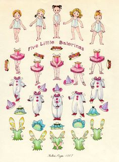 The Paper Collector: Five Little Balerinas by Helen Page