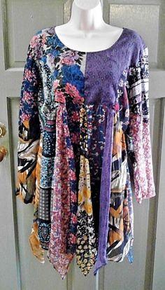 Sacred Threads Nothing Matches size L fully lined, pointed hem, long sleeves #SacredThreads #EmpireWaistTunic #Festive