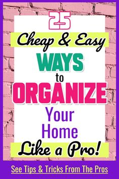 fyi Organizing your home on a budget - declutter challenge! declutter and organize your entire home Organisation Hacks, Home Organization Hacks, Bathroom Organization, Clutter Organization, Household Organization, Storage Hacks, Storage Ideas, Diy Organizer, Car Organizers