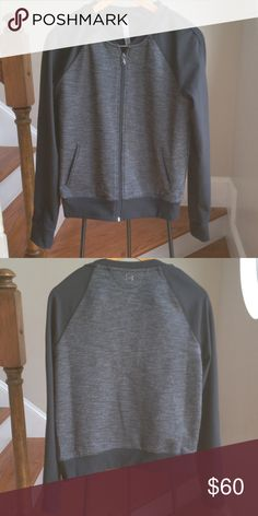 Under Armour zip jacket part of the studio fit line from under armor semi fitted women's size medium retails for $120 Under Armour Jackets & Coats