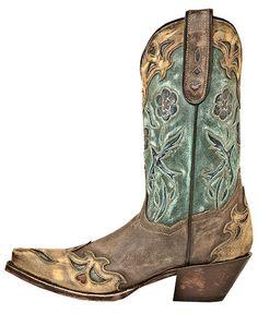 Dan Post Blue Bird Wingtip Cowgirl Boots - Snip Toe - Sheplers