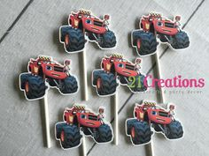 Blaze and the Monster Machines Cupcake Toppers  by 21CreationsToo