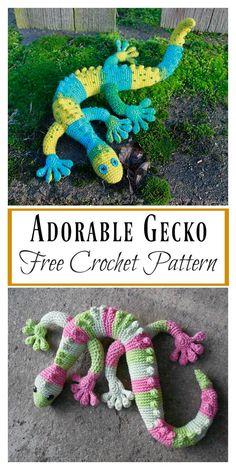 Adorable Gecko Amigurumi Free Crochet Pattern #freecrochetpattern #Gecko #Amigurumi