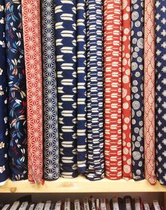 Beautiful Japanese fabrics from Momen+