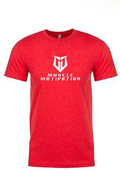 c2f2cde31 LIMITED EDITION* Men's Muscle Motivation T-Shirt - Red/Silver Foil