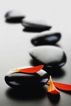 Zen Stones-Red Affiche