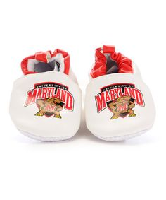 Take a look at this White & Red Maryland Booties - Kids by Skidders on #zulily today!
