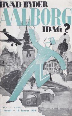 """Det fremgår af dette nummer af """"Aalborg i dag"""" fra 1938, at bladet udkommer hver måned i 5.000 eksemplarer og gennemgår de mange oplevelser, man kan få i byen."""