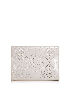 Azzedine Alaia laser cut leather clutch