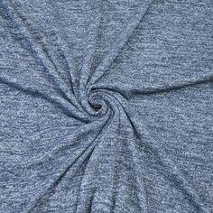 Dark Navy Two Tone Knit Fabric Two Tone 4 way by StylishFabric, $13.90 top