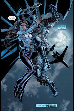 Talia is the daughter of Ra's al Ghul and the heir to his worldwide criminal empire. She has been both lover and mortal enemy to Batman, and is the mother of Damian Wayne. Jim Lee Batman, Batman Hush, I Am Batman, Batman Stuff, Superman, Comic Book Characters, Comic Books Art, Comic Art, Superhero Characters
