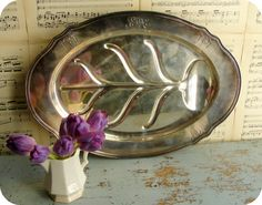 Antique Silver Plate Tray/ Gorham/ Silver plate/ by OpenFields, $60.00