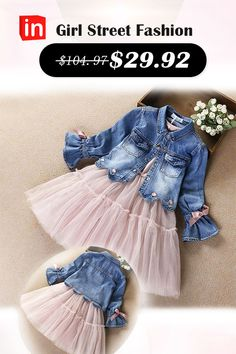 Kids Girls& Active / Street chic Daily / Going out Print / Patchwork Bow / M. - Kids Girls& Active / Street chic Daily / Going out Print / Patchwork Bow / Mesh / Patchwork Lo - Little Girl Outfits, Cute Outfits For Kids, Little Girl Fashion, Kids Fashion, Vestidos Country, Cheap Girls Clothes, Street Chic, Lace Outfit, Mode Outfits