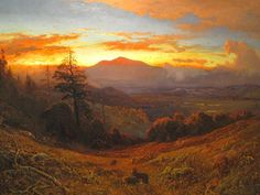 William Keith (1838-1911), Sunset on Mount Diablo - 1877