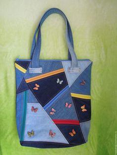 Синяя сумка своими руками
