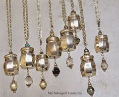 vintage salt and pepper shaker necklaces