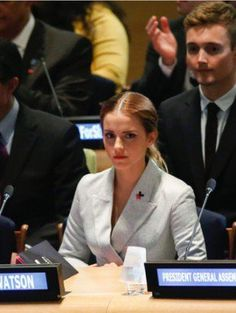 """Emma Watson's UN speech   """"Both men and women should feel free to be sensitive. Both men and women should feel free to be strong… It is time that we all perceive gender on a spectrum not as two opposing sets of ideals."""""""