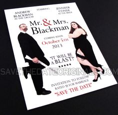 Mr & Mrs save the date #wedding