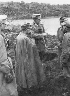 """1941, Le """"Oberst"""" Maximilian Jais commandant du Gebirgsjäger-Régiment 141 de la 6. Gebirgs-Division"""