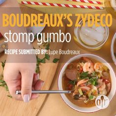 Tantalize your taste buds with a bowl of this tasty gumbo filled with chicken, pork, shrimp and spicy Cajun flavor! Creole Recipes, Cajun Recipes, Seafood Recipes, Soup Recipes, Cajun Food, Lamb Recipes, Healthy Sausage Recipes, Sausage Recipes For Dinner, Cajun Appetizers