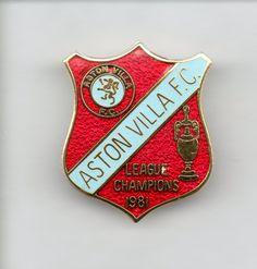 ASTON VILLA BADGE - LEAGUE CHAMPIONS 1981 Aston Villa Badge, Aston Villa Fc, Football Program, Porsche Logo, Champion