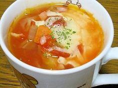 栄養満点☆とろけるチーズの簡単ミネストローネ レシピ・作り方 by えちご姫8654 楽天レシピ