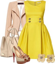 """Sunny disposition"" by msdeeds ❤ liked on Polyvore"