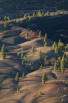 The Painted Dunes of Lassen Volcanic National Park,  Redding, California.