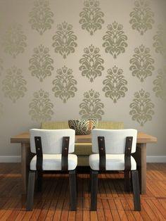 Wall Decal Tulip Damask Pattern Design Textile Flower Shape #WallStarGraphics  Baby girl nursery