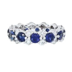 Sapphire and Diamond Cluster Eternity Band from Brilliant Earth