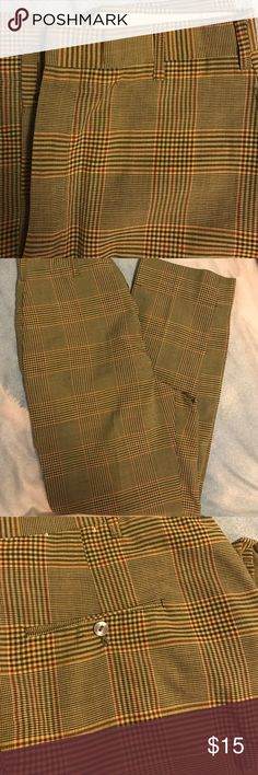 Vintage Glen Plaid Pants ⚒ 31x33 Handsome vintage pants perfect for work, weddings, dates, or an average Tuesday! Comfortable and soft, these pants have been well loved and have really stood the test of time. Never iron and they never wrinkle! Great for all genders. Pants