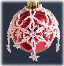Snowflake Drop Ornament Cover Pattern at Sova-Enterprises.com