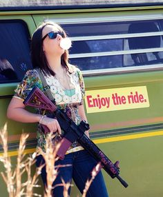 Every day more and more women are choosing to purchase firearms for self-defense, recreation or competition. On Wednesday's we take the day over on Facebook to honor these women. Have you liked us on Facebook yet? Head on over there and get more pictures like this one. Are you a strong woman who loves her firearms? Share your pictures with us. #girlswithguns #womenshooters #pinkguns