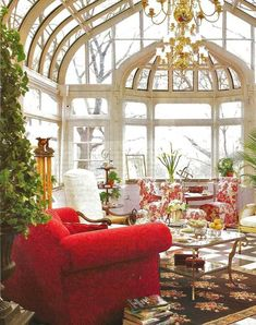 Living Beautifully: Just Some Pretty Rooms #conservatorygreenhouse