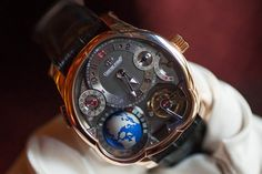 Greubel Forsey watches have to be seen in the metal to be appreciated. The multi-axis tourbillons and multi-layer dials have tons of visual depth, but the Greubel Forsey GMT adds a whole extra level - a three-dimensional titanium globe that acts as a worldtime complication. This is one serious timepiece and we recently had the opportunity to go hands-on to capture some live photos. This is one you don't want to miss.