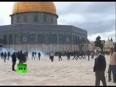Jerusalem: Riots break out at the Temple Mount Al' Aqsa Mosque (Feb 24, 2012) - YouTube