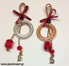 γουρια 2016 - Αναζήτηση Google Christmas Design, Christmas Ideas, Lucky Charm, Christmas Tree Ornaments, Washer Necklace, Art Projects, Charmed, Drop Earrings, Personalized Items