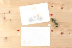 marque-table mariage tandem par My Lovely Thing pour www.fairepart.fr #mariage #wedding #weddingtable