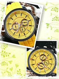 Reloj amarillo silicona esfera grande - 9€ Ref: R114