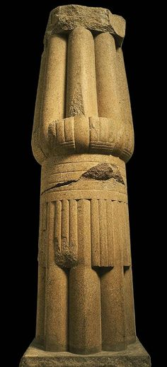 Papyrus column at Egyptian temple of Bast at Bubastis, 12thDynasty