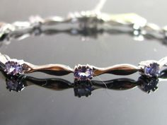Tanzanite Bracelet 1 94 Ct in Sterling Silver Double Prong Stones New | eBay