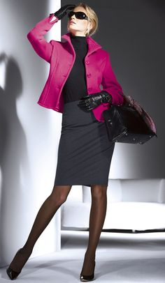 Trending and Popular Skirt Outfit Ideas looks you dream with the stylish dressing skirt that every woman should wear and show off their sexy outfits. Short skirts for simplicity and miniskirts for hot stance and long skirts to show off… Continue Reading → Fashion Business, Office Fashion, Work Fashion, Women's Fashion, Business Lady, Child Fashion, Business Style, Purple Fashion, Fashion Group