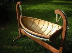 Miniature wooden boat
