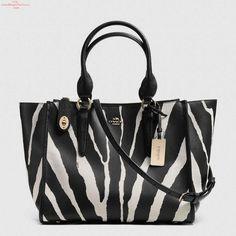 Crosby Carryall in Zebra Print Leather Cheap Coach Purse Handbags Cheap Coach Handbags, Cheap Coach Bags, Purses And Handbags, Coach Bags Outlet, Handbag Stores, Day Bag, Fashion Handbags, Fashion Bags, Runway Fashion