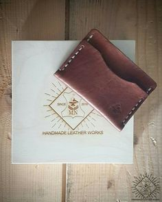 HANDMADE LEATHER WORKS HANDMADE LEATHER POCKET WALLET FOR CARDS AND CASH