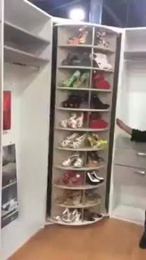 spinning shoe rack that holds up to 226 PAIRS of shoes! Isn't this ...
