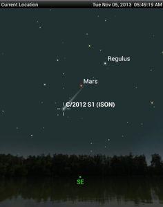 ISON comet - 5 Nov, 2013
