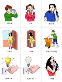 List of Common Verbs Flashcard Set