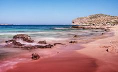 The beaches of Falasarna on the extreme west coast of Crete are known for their pink sands, and you can be prosecuted for stealing the stuff.
