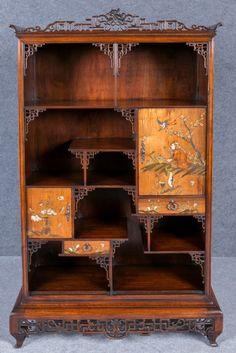 Gabriel Viardot attributed Oriental Style Display Cabinet